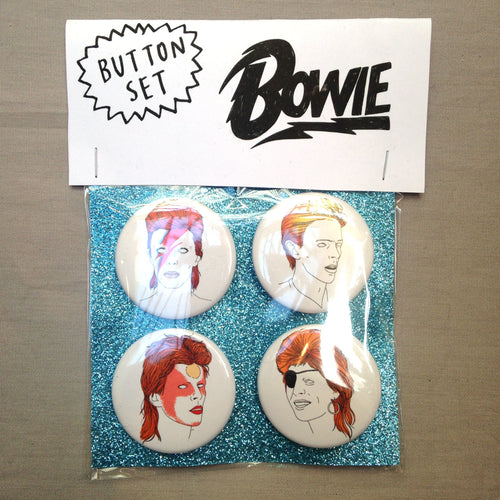 BOWIE button set