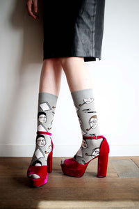 I MISS THE EXISTENTIALISTS socks