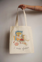 Load image into Gallery viewer, I MISS GLUTEN tote bag