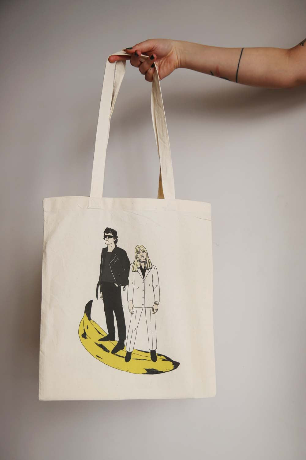 I MISS LOU REED & NICO tote bag