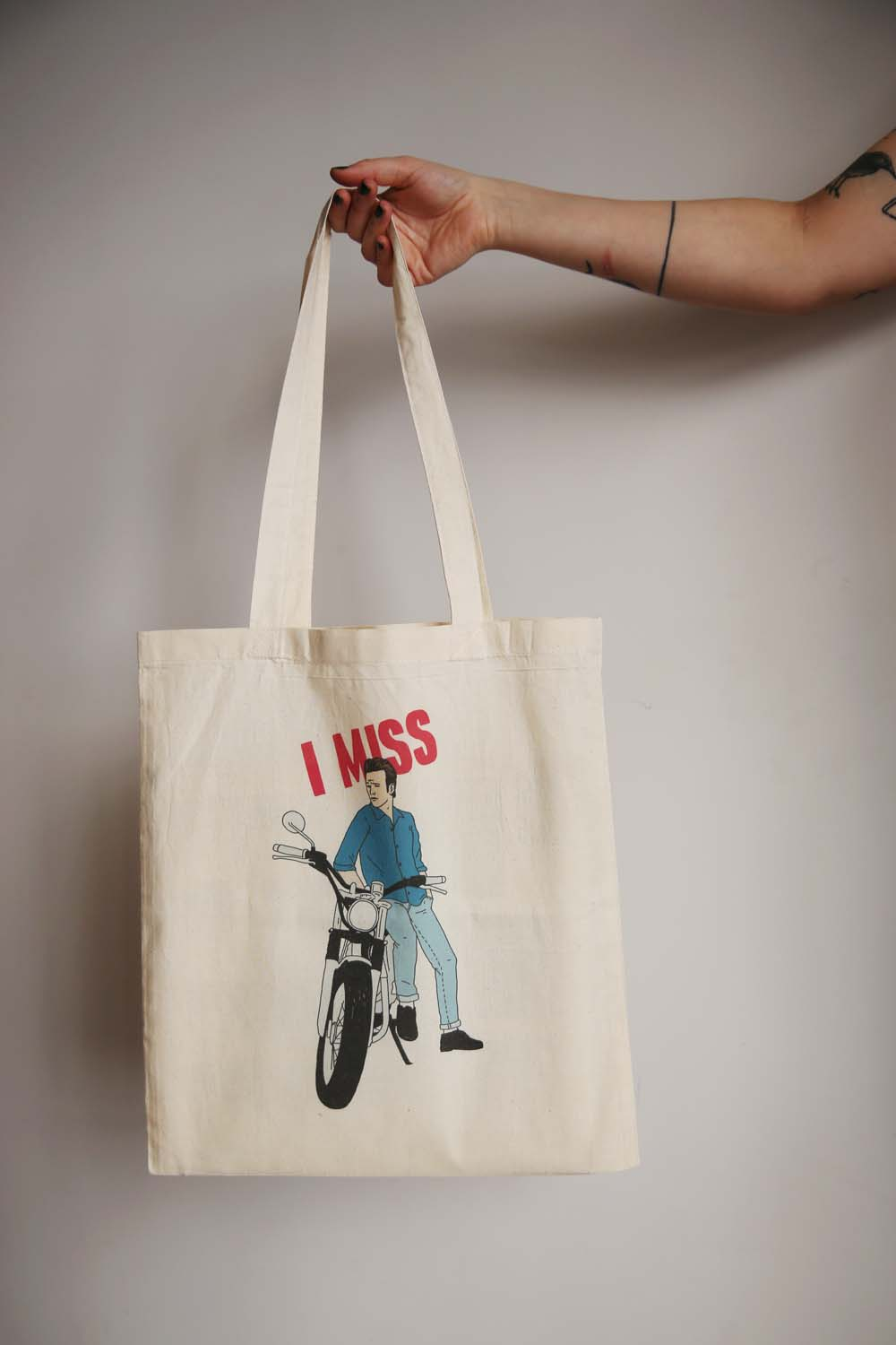 I MISS LUKE PERRY tote bag