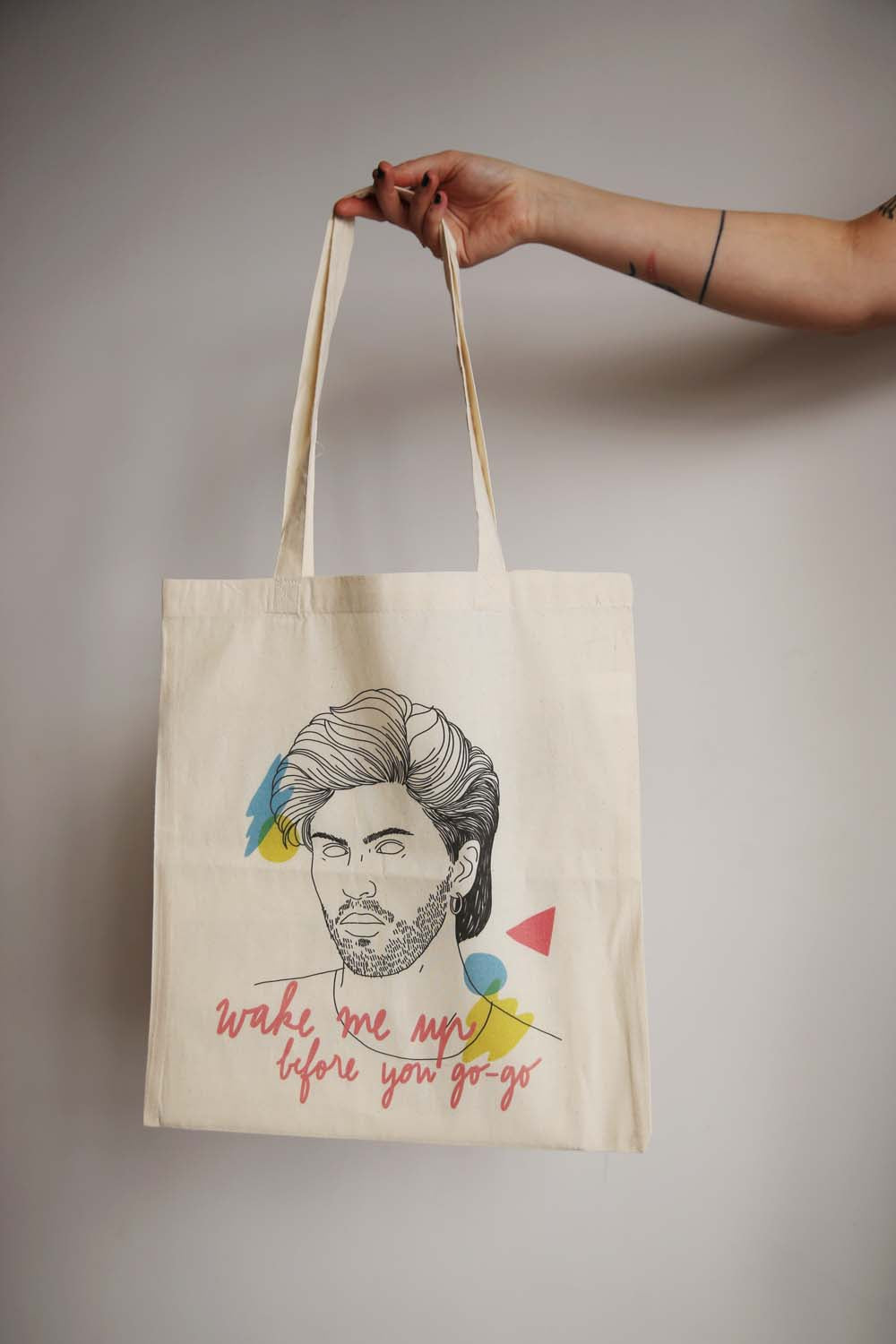 I MISS GEORGE MICHAEL tote bag