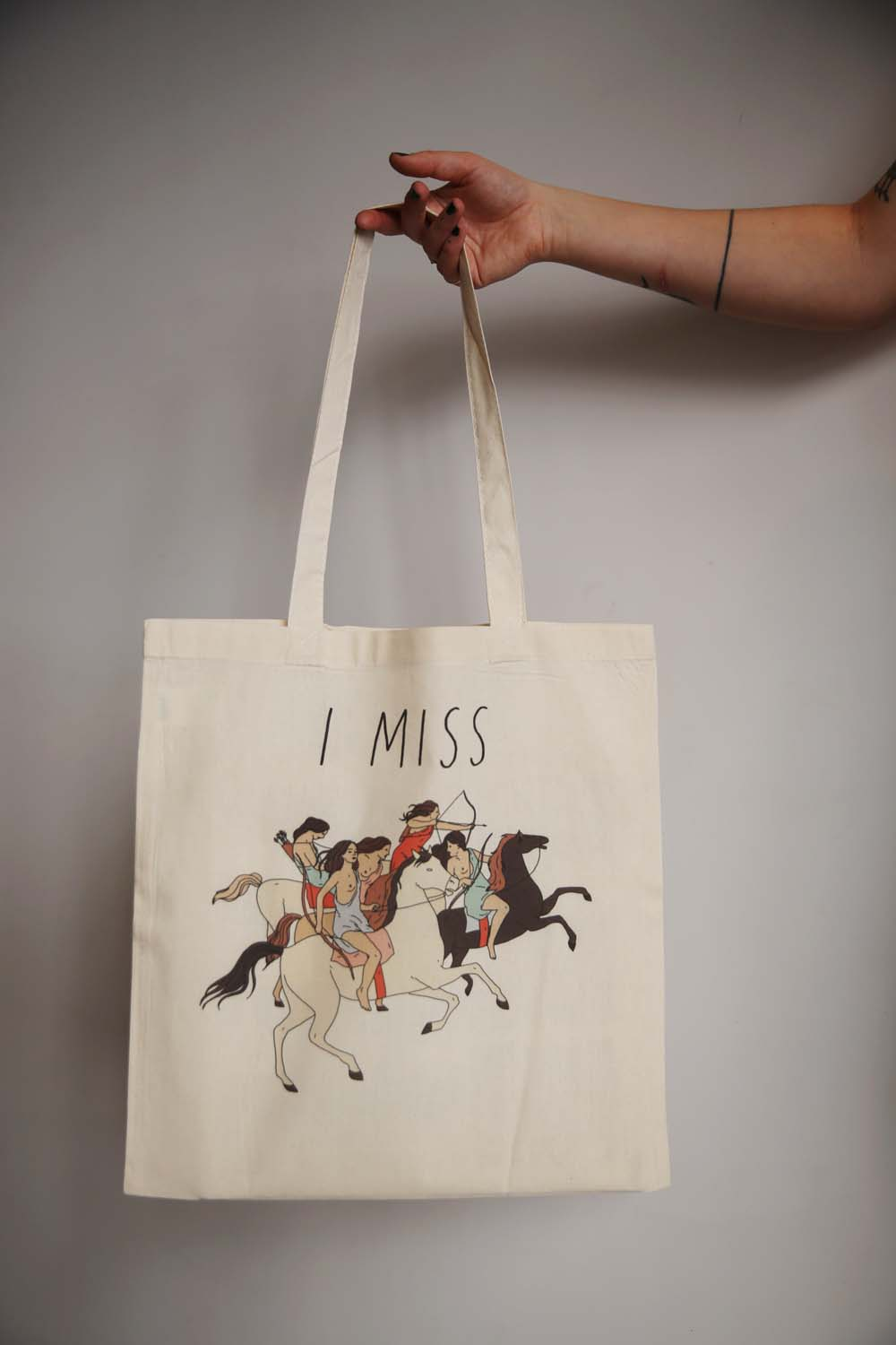 I MISS THE AMAZONS tote bag