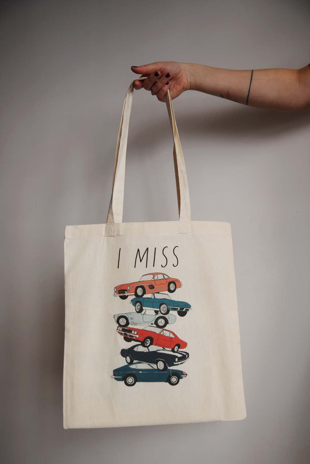 I MISS VINTAGE CARS tote bag