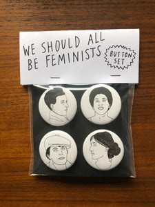 FEMINISTS button set