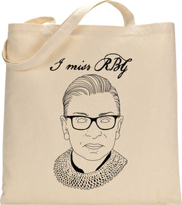 I MISS RBG tote bag