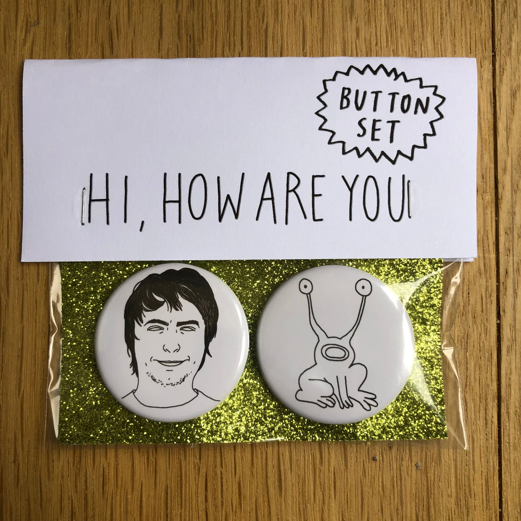 DANIEL JOHNSTON button set
