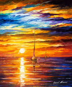 LONELY EVENING SEA - Autorská replika z dílny Studia Afremov