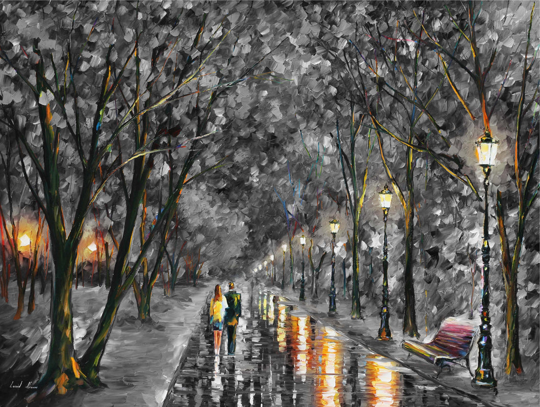 WHEN DREAMS COME TRUE B&W - Autorská replika z dílny Studia Afremov