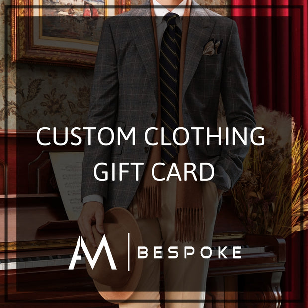 Custom Clothing Gift Card AM Bespoke