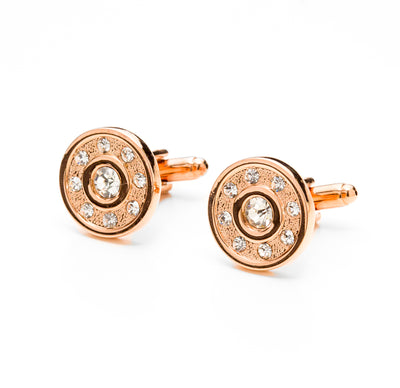 Rose Gold Tone Studded Cufflinks