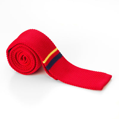 Racing Stripes Red Knit Tie