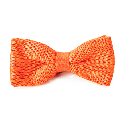 Orange Knit Bow Tie