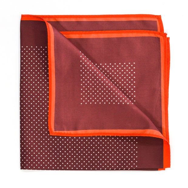 Spotted Burnt Orange Pocket Square
