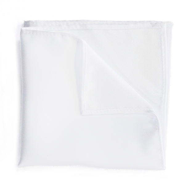Classic White Pocket Square