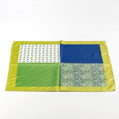 Multi Green Pocket Square