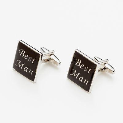 "Square Wedding Day ""Best Man"" Cufflinks AM Bespoke Accessories"