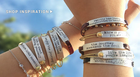 Inspirational Jewelry Stacking bracelets by Sweet Romance