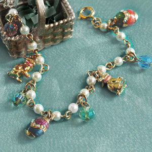 Little Girls Easter Egg Charm Bracelet BR201