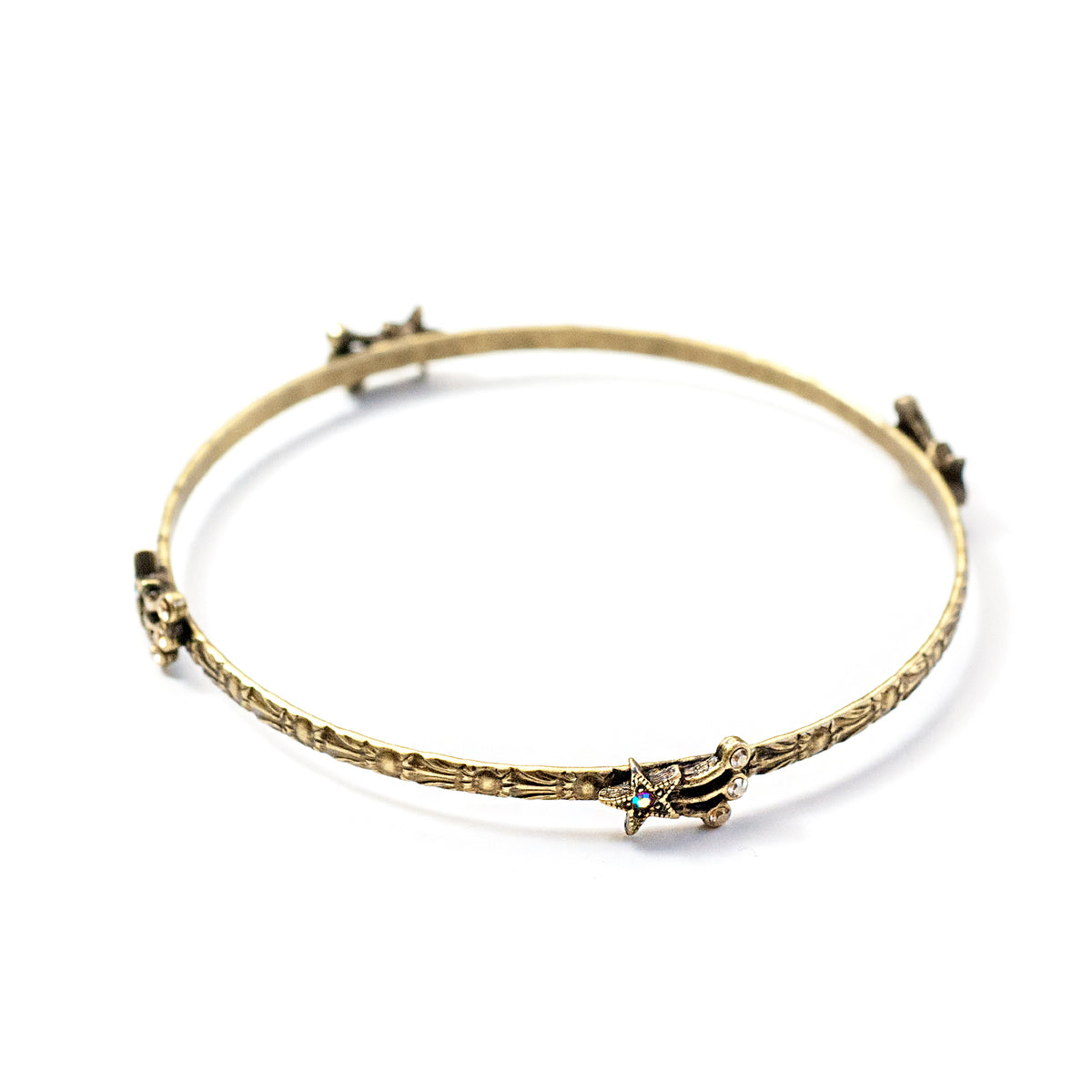 Star Bangle Bracelet BR545 - sweetromanceonlinejewelry