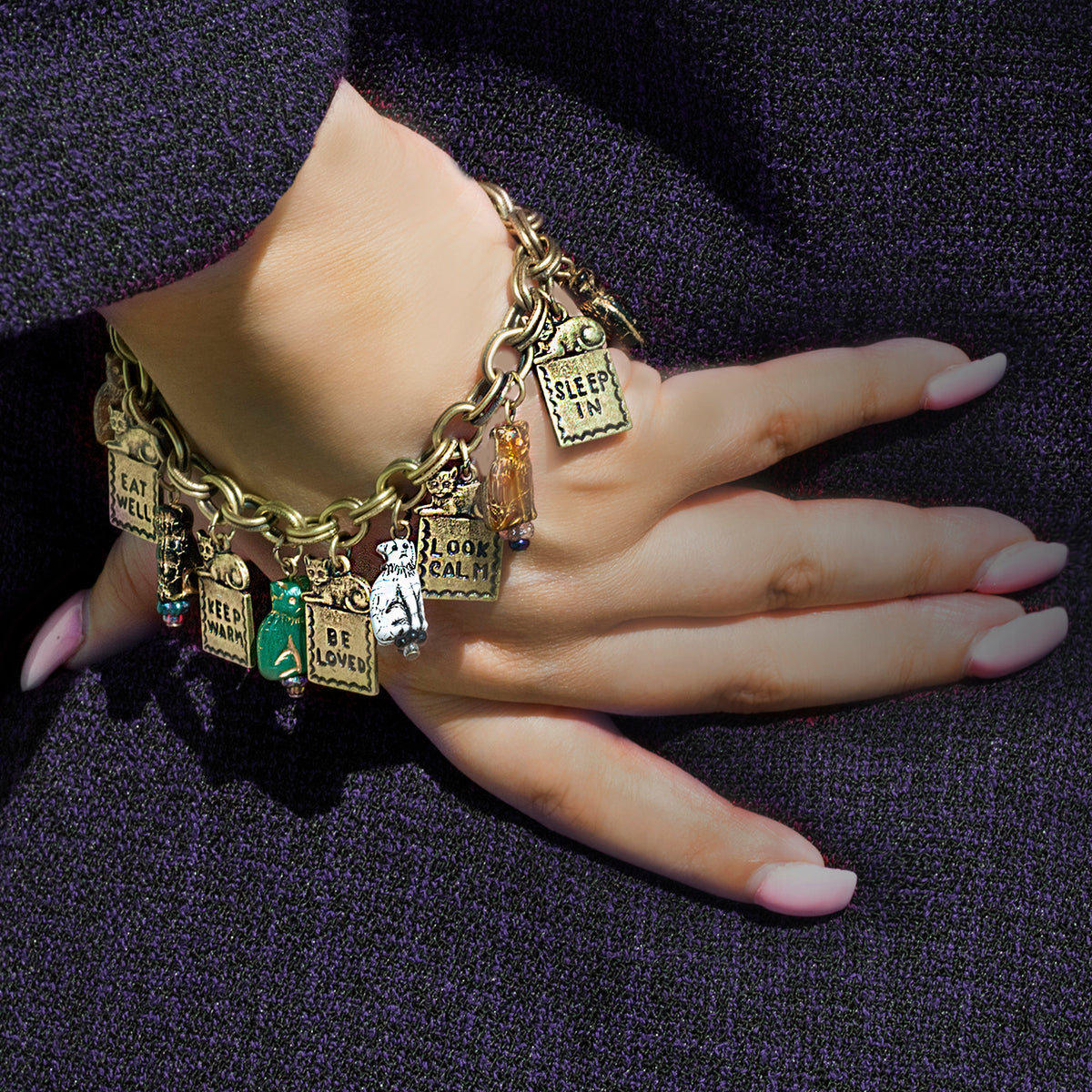 Good Life Cat Charm Bracelet BR549 - sweetromanceonlinejewelry