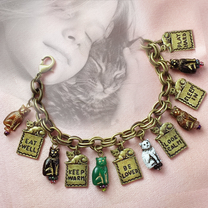 Good Life Cat Charm Bracelet BR549