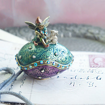 Easter Egg Fairy and Rabbit Miniature Box BX24