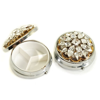 Vintage Jeweled Pillbox - sweetromanceonlinejewelry