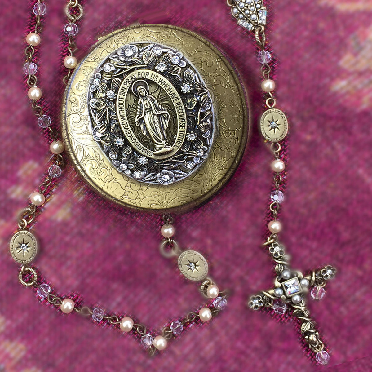Our Lady of Miracle Vintage Rosary and Box Set