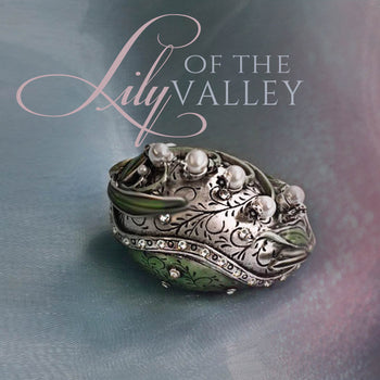 Limited Edition Lily of the Valley Egg Box BX45 - sweetromanceonlinejewelry