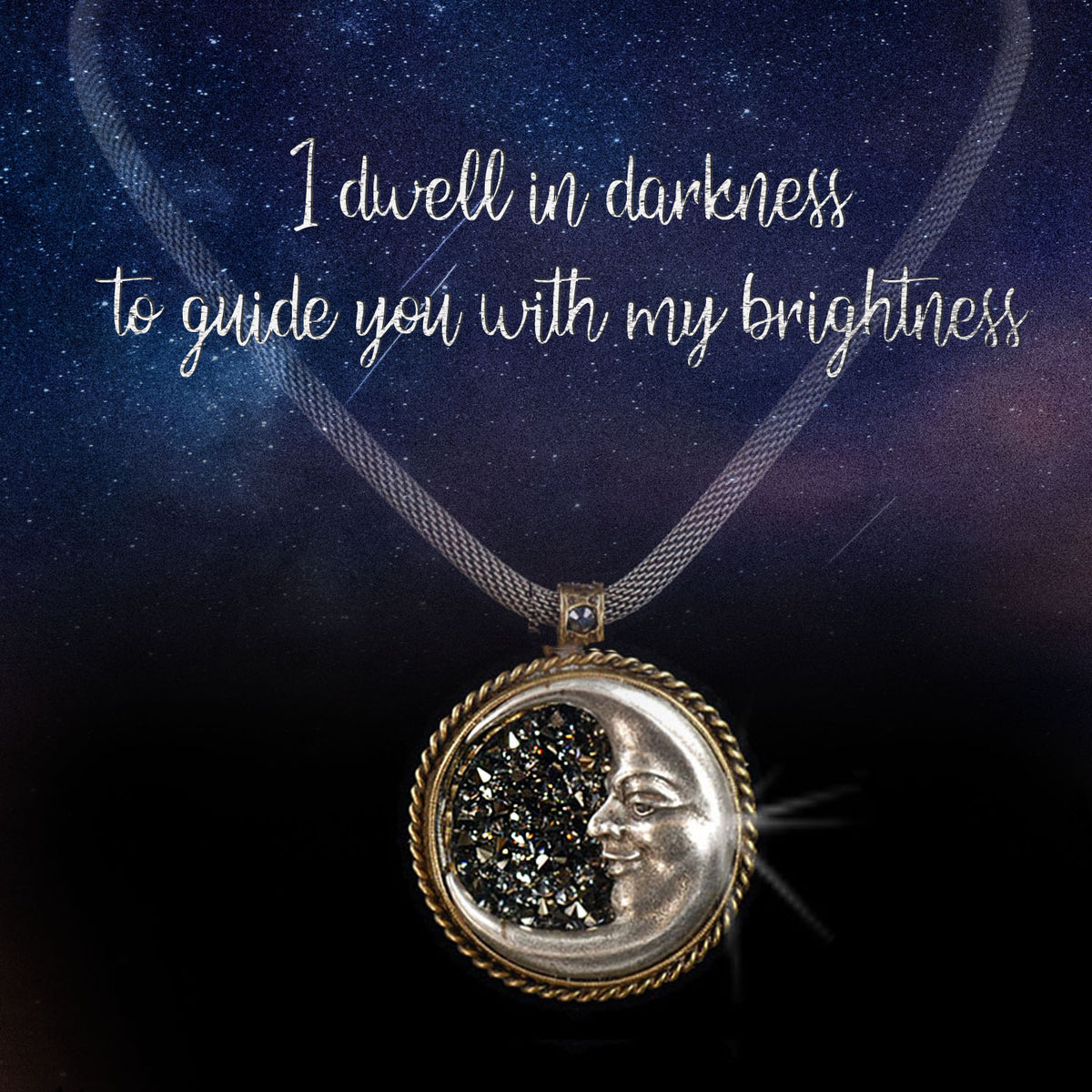 Crescent Silver Moon Necklace by Sweet Romance   N1282