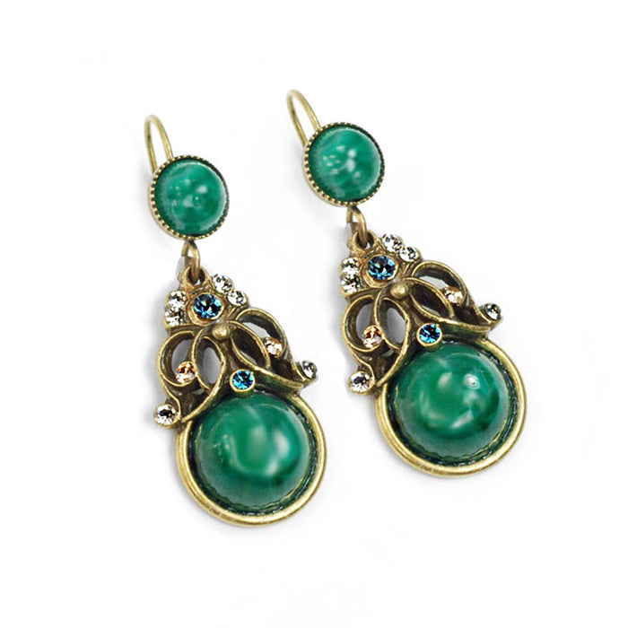 Tranquility Vintage Glass Earrings E1356
