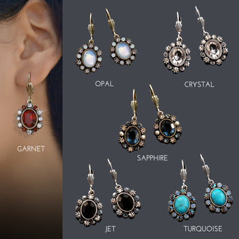 Oval Crystal Classic Earrings E1444