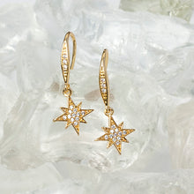 Load image into Gallery viewer, Tiny North Star Earrings E1505 - sweetromanceonlinejewelry
