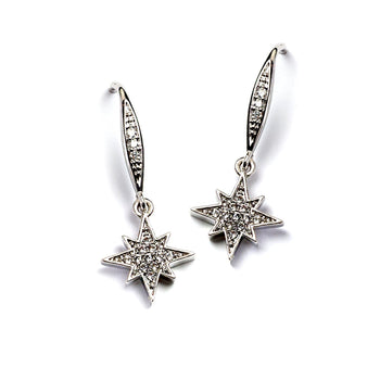 Tiny North Star Earrings E1505 - sweetromanceonlinejewelry