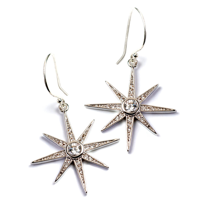 North Star Earrings E1506 - sweetromanceonlinejewelry