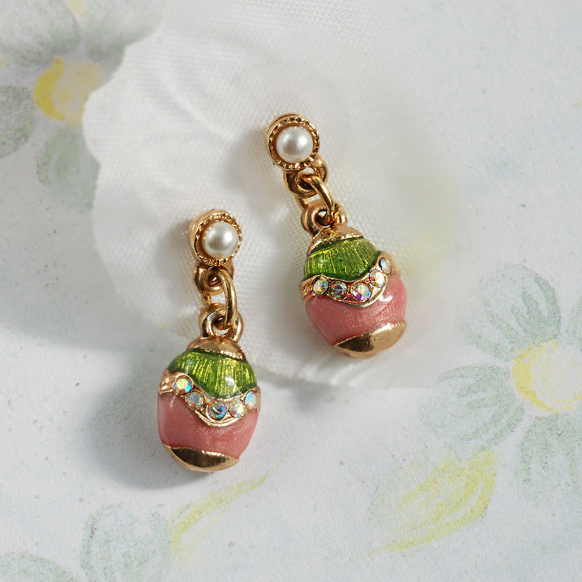 Miniature Enamel Easter Egg Earrings E201