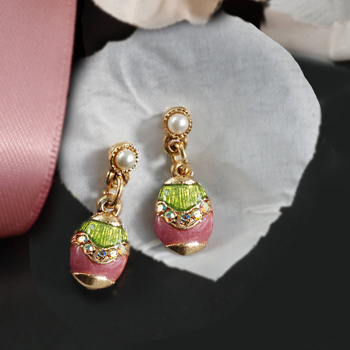Little Enamel Easter Egg Earrings E201
