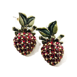 Sweet Strawberries Statement Earrings E539