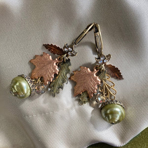 Autumn Leaves & Acorn Earrings  E648L