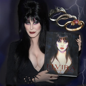 Elvira's Ring Set & Autographed Book