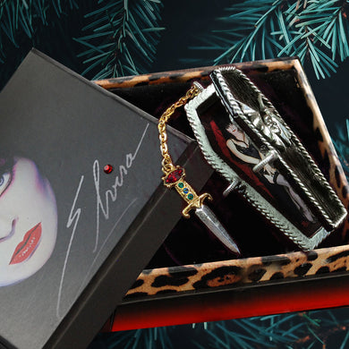 Elvira's Coffin Stash Box Locket Necklace  EL_BX100