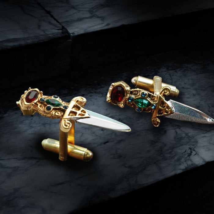 Elvira's Limited Edition Dagger Cufflinks - sweetromanceonlinejewelry