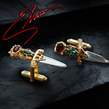 Load image into Gallery viewer, Elvira's Limited Edition Dagger Cufflinks - sweetromanceonlinejewelry