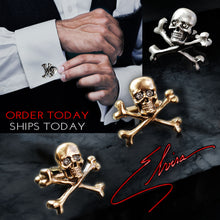 Load image into Gallery viewer, Elvira's Limited Edition Skull Cufflinks EL_CL100