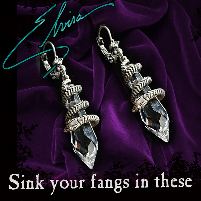 Elvira's Mystic Crystal Snake Earrings EL_E102