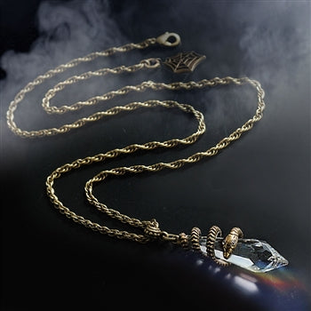 Elvira's Mystical Crystal Snake Necklace EL_N102 - sweetromanceonlinejewelry