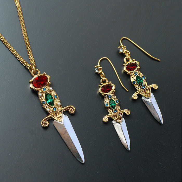 Elvira's Dagger Earrings EL_E105 - sweetromanceonlinejewelry