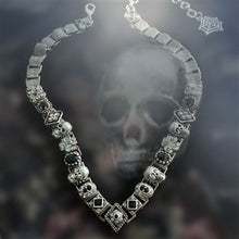 Load image into Gallery viewer, Elvira's Gothic Jewel Collar Necklace