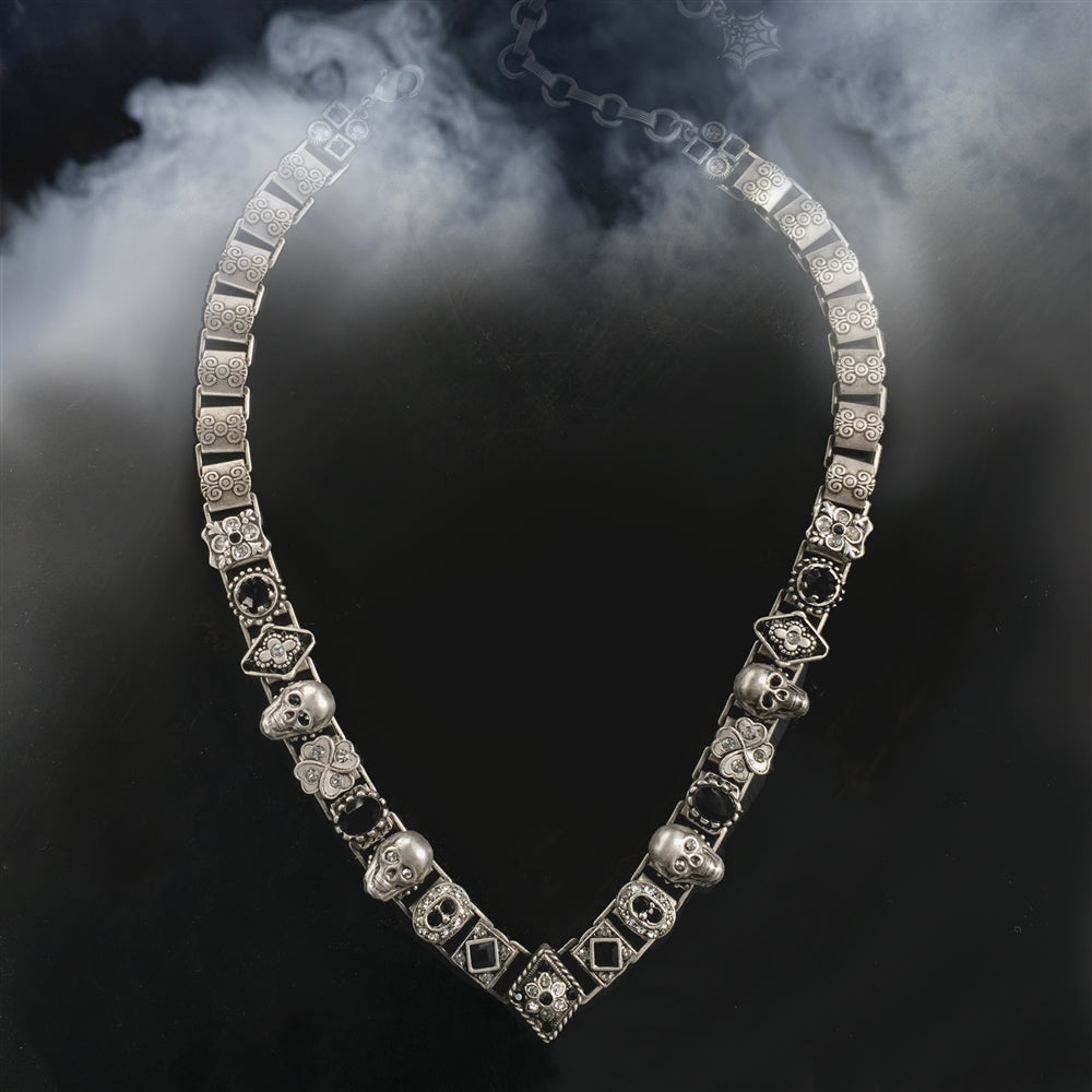 Elvira's Gothic Jewel Collar Necklace EL_N112 - sweetromanceonlinejewelry
